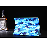camuflaje zapatero cuero de la PU cubierta de la caja elegante de ultra soporte para Apple Mini iPad 1/2/3 (color clasificado)