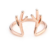 Rose gold plated couple rings jewelry