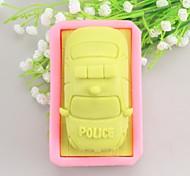 Police Car Shaped Soap Molds Mooncake Mould Fondant Cake Chocolate Silicone Mold, Decoration Tools Bakeware