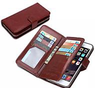 iphone 7 plus de ji portefeuille pu étui en cuir pour iphone 6s 6 plus avec 9 emplacements pour cartes