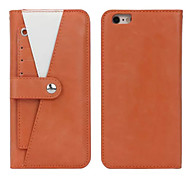 Magnetic Detachable Wallet Leather Case With Clips Stand Shrapnel Stents Cover For iphone 6 plus(Assorted Color)