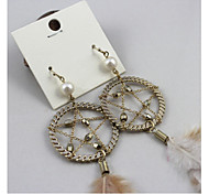 A Feather Of Exaggerated Earrings(1 pairs)