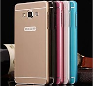 High Quality Protective Metal Bumper Frame with PC Back Cover for Samsung A7 (Assorted Colors)