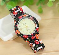 reloj Geneva Watch sello de flores de aleación de correa de las mujeres