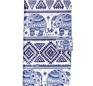 Elephant Pattern PU Leather Wallet Full Body Case with Card Slot And Stands for Motorola MOTO G3 3rd Gen