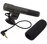 Microphone External Stereo Recording Microphone for SLR cameras with MIC 3.5mm Audio Interface