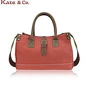 Kate & Co.® Women Canvas Tote Pink / Blue / Orange - BC-00136