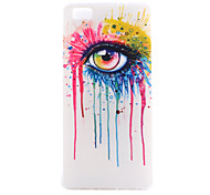 Eye Pattern Thin Transparent TPU Material Phone Case for Huawei P8/P8Lite/G7