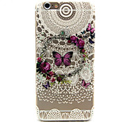 Butterfly wreath Pattern TPU Relief Back Cover Case for iPhone 6/iPhone 6S