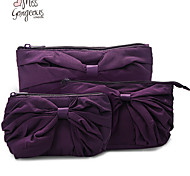 MISS GORGEOUS 3PCS Romantic Purple Bag Fashion Cotton Fabric Women Day Clutch Bags Europe Vintage Hangbags