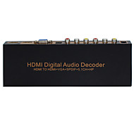 hdmi hdmi decodificador digital de audio a HDMI + VGA + SPDIF + 5.1 + hp decodificador