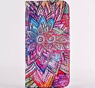 Mysterious Flowers Pattern PU Leather Full Body Case with Card Slot for iPhone 4/4S
