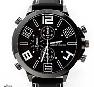 Men's Watches Fashion Large Dial Strap Watch Car Line