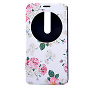 Peony Pattern Full Package PU leather Material Stand phone Case for Asus Zenfone 2/Asus Zenfone 5