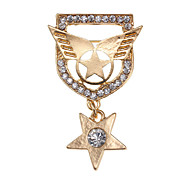 Badges Cool Fashion Star Diamond Brooch