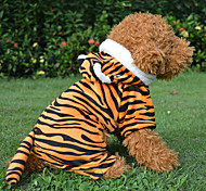 Red/Black Leopard Cotton Non Inverted Tiger Styles Velvet Clothes Coats For Dogs