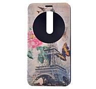 Butterfly Pattern Full Package PU leather Material Stand phone Case for Asus Zenfone 2/Asus Zenfone 5