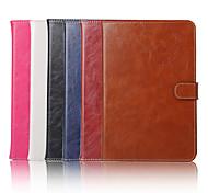 el caso de cuero 7.9 pulgadas patrón de color sólido de alta calidad PU para el ipad mini-4
