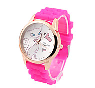 Silica gel Korean fashion women's digital watch free'shipping