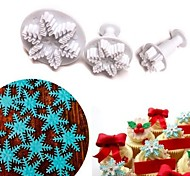 Snowflake Plunger Cutter Set, Sugarcraft Fondant Plunger Cake Cutters, Cake Decorating Tools Cutter, NO.16
