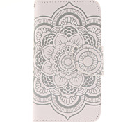 logrotate®white цветы шаблон бумажник PU кожа полный случай тела с подставкой для Samsung Galaxy j5