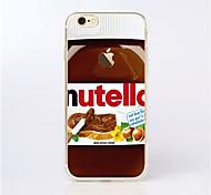 maycari® o delicioso de chocolate macio TPU transparente de volta caso para iphone 6s 6plus / iphone mais