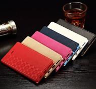 Flip-Cover Support-Kartensteckplatz Magnetismus Rhombus geschmeidigen einfache pu tpu Handyoberteil für iphone 6s 4.7 farblich sortiert