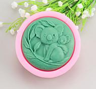Koalas Shaped  Soap Molds Mooncake Mould Fondant Cake Chocolate Silicone Mold, Decoration Tools Bakeware