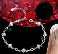 Woman Zircon Crystal Sterling Silver Bracelet