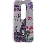 Eiffer Tower Pattern PC Hard Back Cover Case for Motorola MOTO G3 3rd Gen