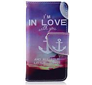 in der Liebe Muster PU-lederne Mappe Design Ganzkörper-Fall mit Ständer für den iPod touch 5/6