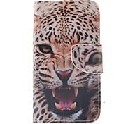 logrotate®leopard motif portefeuille en cuir PU de cas complète du corps avec support pour Samsung Galaxy J5