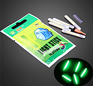 10Pcs Fishing Night Fluorescent Light Float Glow Stick Lightstick 4.5*37mm High Quality Fishing Tools