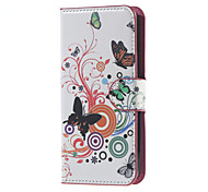 Realistic butterfly Pattern Leather Wallet Flip Stand Case For Acer Liquid Z410 Mobile Phone Cases Covers