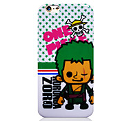 One Piece White Bottom Green Star OP TPU Soft Back Cover for iPhone 6