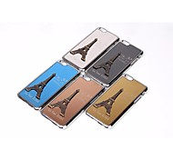 La Tour Eiffel Paris The New Metal Wire Drawing Case Cover Mobile phone for iPhone 6 Assorted Color