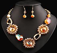 Ensemble de bijoux Cristal Perle Mode Bijoux de déclaration Écran couleur Set de Bijoux Soirée Occasion spéciale AnniversaireCadeaux de