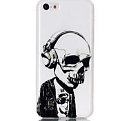 Human skeleton Pattern TPU Soft Case for iPhone 5C