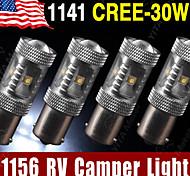 4 x rv camper echte Cree 30w weiß 1156 BA15S LED-Rückfahrscheinwerfer 1141 1003