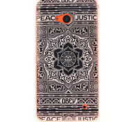 Large Black Flower Design TPU + IMD Phone Case For Nokia N640