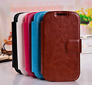 PU Wallet Ultra-Thin Voltage cell phone Holster for Samsung Galaxy Trend Duos Galaxy S Advance I8750 Galaxy Win