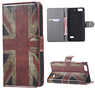 Vintage Union Jack Flag Magnetic Wallet Book Flip Leather Case Stand cover For Huawei Honor 4C Mobile Phone Cases Covers