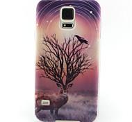 patrón de pintura de los ciervos TPU caso suave para el mini mini mini s4 / samsung galaxy s3 / s5