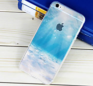 Seabed Landscape Pattern Transparent TPU Material Phone Case for iPhone 6 Plus/6S Plus