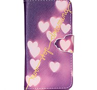 Love Pattern PU Leather Case with Card Slot and Stand for Samsung Galaxy S4 mini/S3mini/S5mini/S3/S4/S5/S6/S6edge+