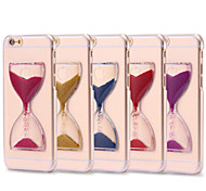 Dynamic Flowing Sand Hourglass Glitter Quicksand Capa Clear Case For iPhone 7 7 Plus 6s Plus