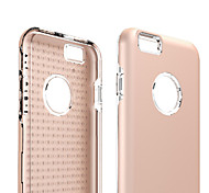For iPhone 6 Case Shockproof Case Back Cover Case Solid Color Soft TPU iPhone 6s/6