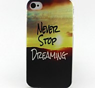 stop patroon TPU Case voor iPhone 4G / 4s