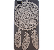 Dreamcatcher Pattern Transparent Frosted PC Material Cell Phone Case for Huawei P8 Lite