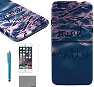 LEXY® Deep Blue Sea Pattern Hard PC Back Case with 9H Glass Screen Protector and Stylus for iPhone 6/6S